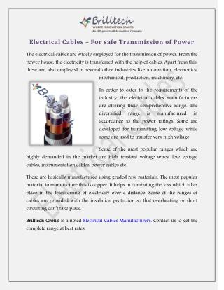 Electric Cables Manufacturers Delhi, Suppliers India