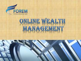 Online Wealth Management