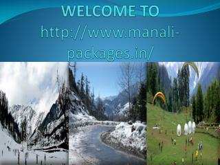 Delhi To Manali Packages
