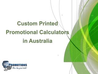 Custom Printed Promotional Calculators in Australia