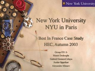 New York University NYU in Paris