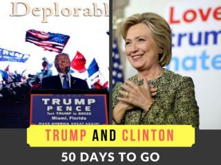 Trump and Clinton: 50 days to go
