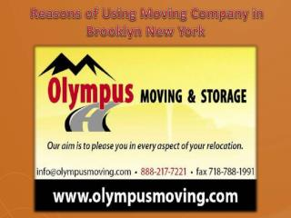 Reasons of Using Moving Company in Brooklyn New York