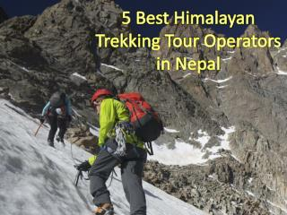 5 Best Himalayan Trekking Tour Operators in Nepal