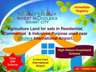Dholera SIR Agriculture land for sale