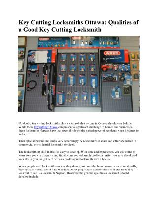 Key Cutting Ottawa