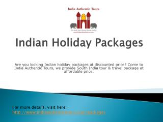 Indian holiday packages