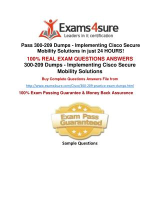 300-209 Exam Questions