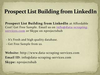 Prospect List Building from Linkedin