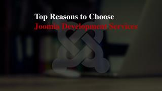 Top Reasons to Choose Joomla Development Services