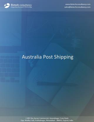 Magento Australia Post Shipping Extension, Send Parcels from Store
