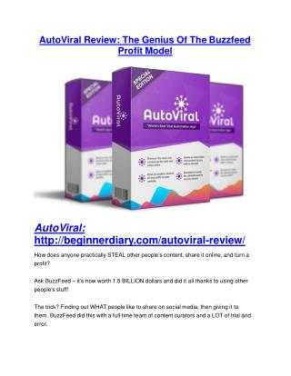 AutoViral Review and AutoViral (EXCLUSIVE) bonuses pack