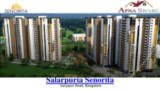 Salarpuria Senorita Pre Launch Residential Apartments in Bangalore