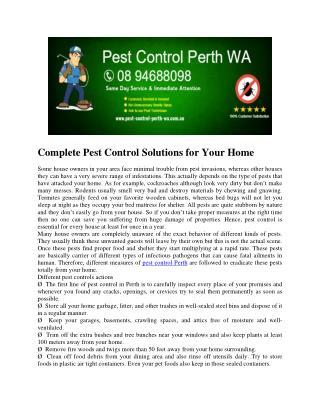 Pest Control Perth WA