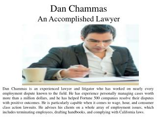 Dan Chammas - An Accomplished Lawyer