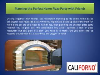 Planning the Perfect Home Pizza Party with Friends