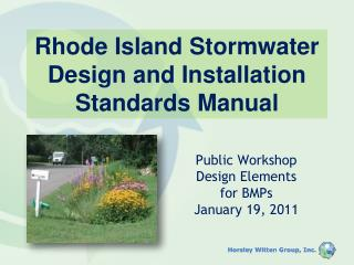 Rhode Island Stormwater Design and Installation Standards Manual