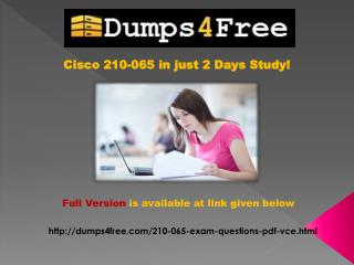 Free Cisco 210-065 Dumps