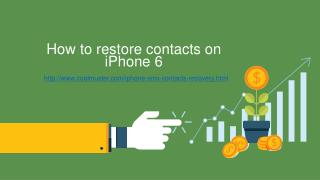 How to restore contacts on iPhone 6