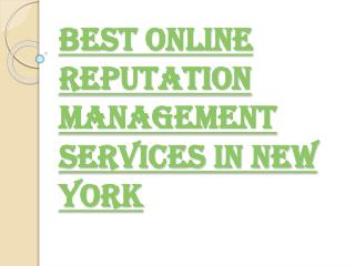 New York Best Online Reputation Management Service Provider