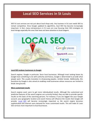 SEO in St Louis