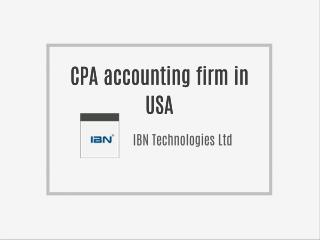 CPA accounting firm in USA