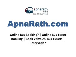 Online Bus Booking? | Online Bus Ticket Booking | Book Volvo AC Bus Tickets | Reservation