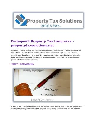 Delinquent Property Tax Lampasas