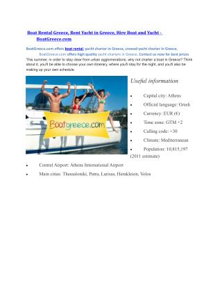 Boat Rental Greece, Rent Yacht in Greece, Hire Boat and Yacht - BoatGreece.com