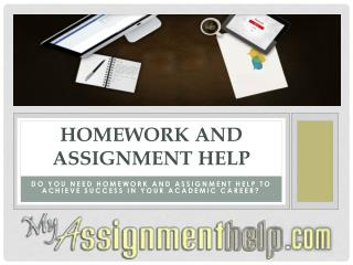 Get Homework and Assignment Help from Experts