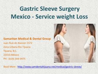Gastric Sleeve Tijuana Mexico - Surgery in Mexico