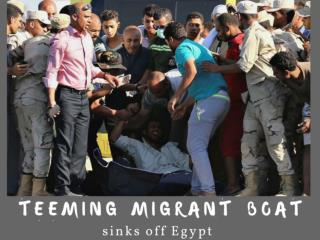 Teeming migrant boat sinks off Egypt