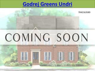 Godrej Greens Undri Pune - 2/3 BHK Apartments