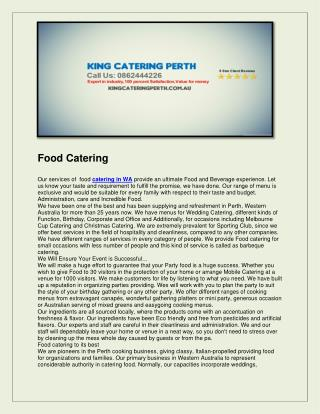 King catering perth