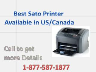 Call 18775871877 | Best Sato Printer Customer Service available in US Canada