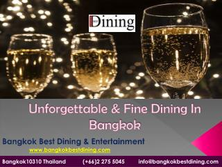 unforgettable and fine dining in Bangkok