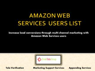 List of Amazon Web Services Customers