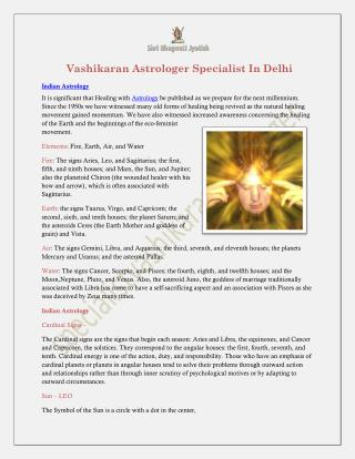 Vashikaran Astrologer Specialist In Delhi