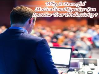 Application of motivational speaker in increasing prodcutivity