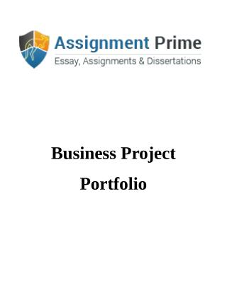 Assignment Prime - Sample on Business Project Management