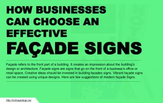 How businesses can choose façade signs?