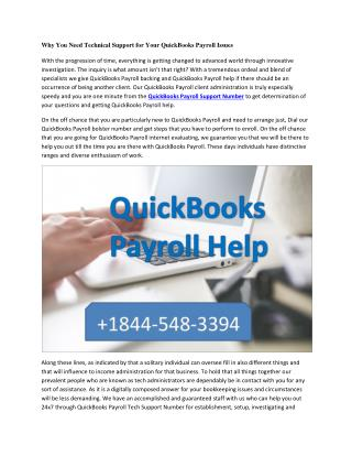 Why You Need Technical Support for Your QuickBooks Payroll Issues