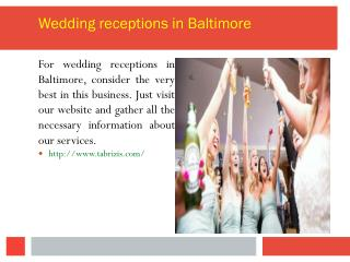 Wedding receptions in Baltimore