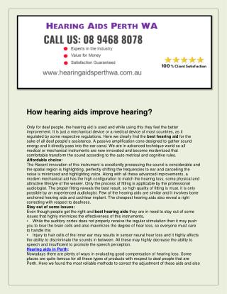 Hearing Aids Perth WA