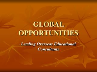 Global Higher Study|Study Abroad|Overseas Career Consultants - Global Opportunities