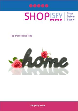 Top Decorating Tips