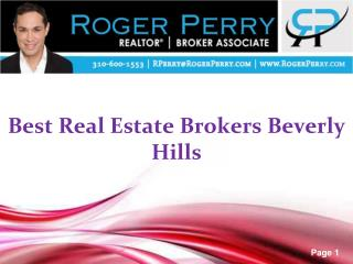 Best Real Estate Brokers Beverly Hills