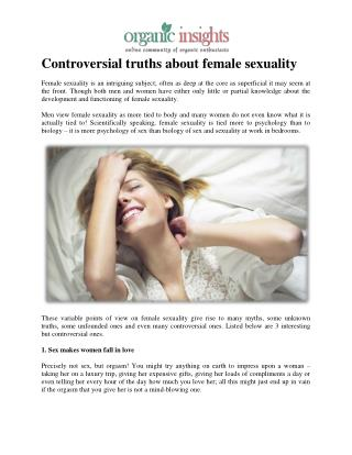 Controversial truths about female sexuality