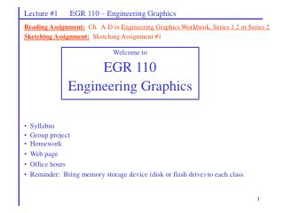Lecture #1      EGR 110 – Engineering Graphics