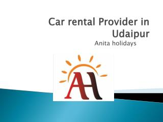 Car rental provider in udaipur